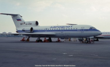 img763 Yakovlev Yak-42 RA-42321 Aeroflot © Michel Anciaux