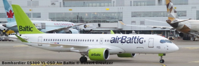 001 Bombardier CS300 YL-CSD Air Baltic © Hubert Creutzer