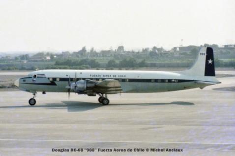 001 Douglas DC-6B ''988'' Fuerza Aerea de Chile © Michel Anciaux