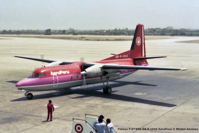 001 Fokker F-27-600 OB-R-1042 AeroPeru © Michel Anciaux
