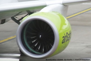 004 Bombardier CS300 YL-CSD Air Baltic © Hubert Creutzer
