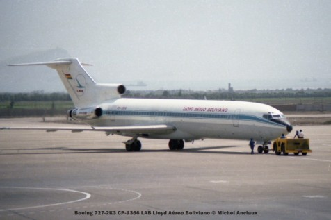 006 Boeing 727-2K3 CP-1366 LAB Lloyd Aéreo Boliviano © Michel Anciaux