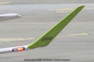 006 Bombardier CS300 YL-CSD Air Baltic © Hubert Creutzer