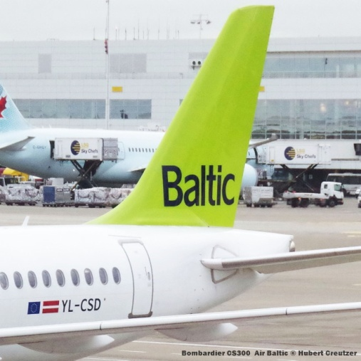 009 Bombardier CS300 YL-CSD Air Baltic © Hubert Creutzer