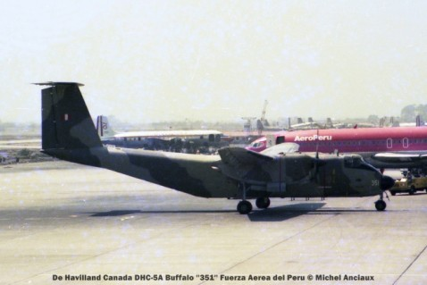 01 De Havilland Canada DHC-5A Buffalo ''351'' Fuerza Aerea del Peru © Michel Anciaux
