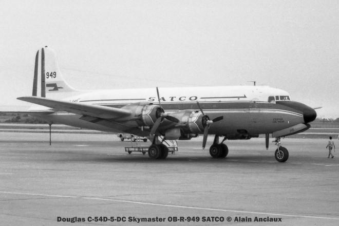 01 Douglas C-54D-5-DC Skymaster OB-R-949 SATCO © Alain Anciaux
