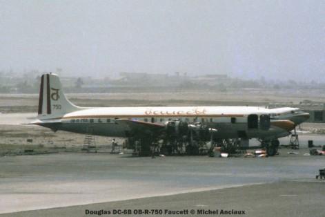 01 Douglas DC-6B OB-R-750 Faucett © Michel Anciaux