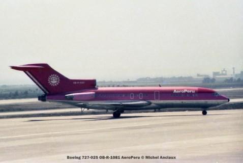 012 Boeing 727-025 OB-R-1081 AeroPeru © Michel Anciaux