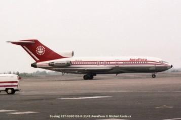 013 Boeing 727-030C OB-R-1141 AeroPeru © Michel Anciaux