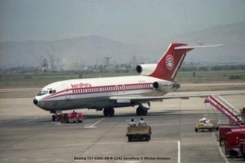 015 Boeing 727-030C OB-R-1141 AeroPeru © Michel Anciaux