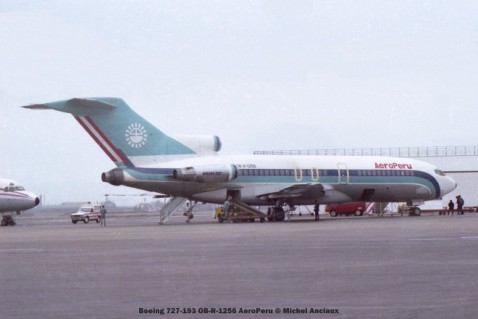 017 Boeing 727-193 OB-R-1256 AeroPeru © Michel Anciaux