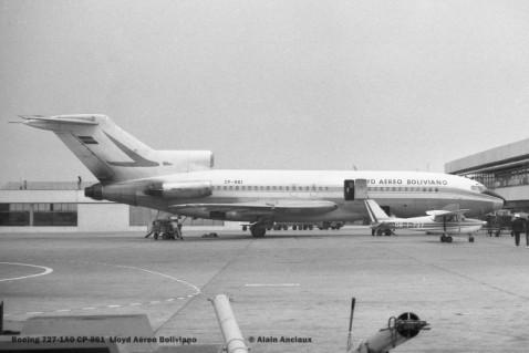 02 Boeing 727-1A0 CP-861 Lloyd Aéreo Boliviano © Alain Anciaux