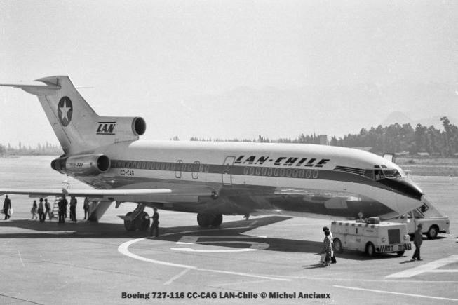 001 Boeing 727-116 CC-CAG LAN-Chile © Michel Anciaux
