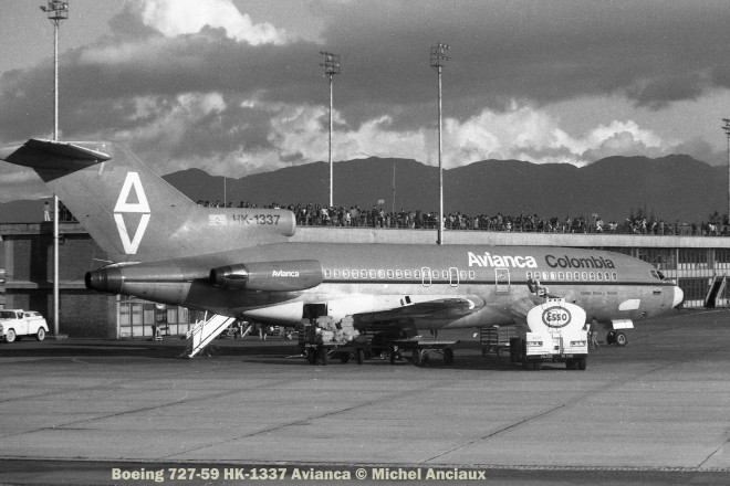 001 Boeing 727-59 HK-1337 Avianca © Michel Anciaux