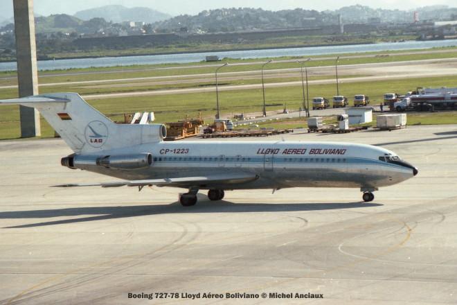 008 Boeing 727-78 Lloyd Aéreo Boliviano © Michel Anciaux