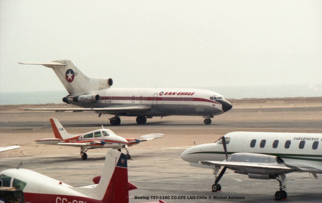 009 Boeing 727-116C CC-CFE LAN-Chile © Michel Anciaux