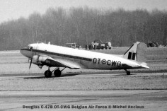 03 Douglas C-47B OT-CWG Belgian Air Force © Michel Anciaux
