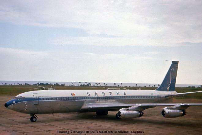 07 Boeing 707-329 OO-SJG SABENA © Michel Anciaux
