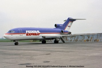128 Boeing 727-24C N114FE Federal Express © Michel Anciaux