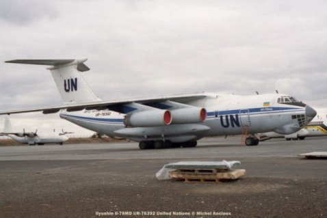 19 Ilyushin Il-76MD UR-76392 United Nations © Michel Anciaux