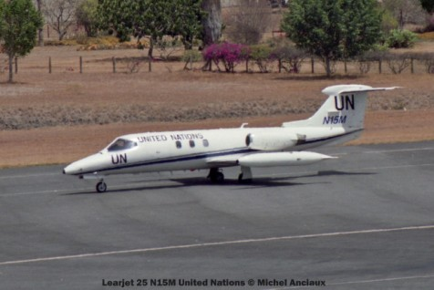 38 Learjet 25 N15M United Nations © Michel Anciaux
