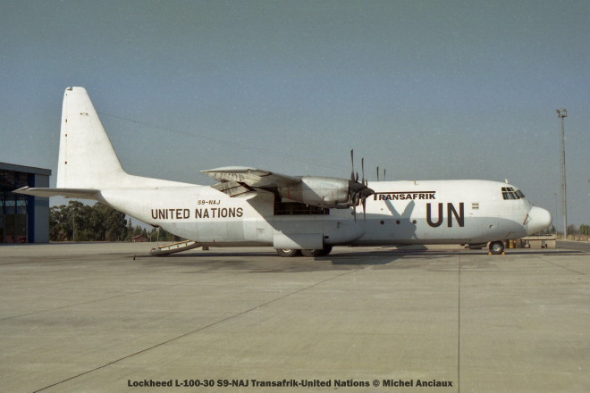 57 Lockheed L-100-30 S9-NAJ Transafrik-United Nations © Michel Anciaux