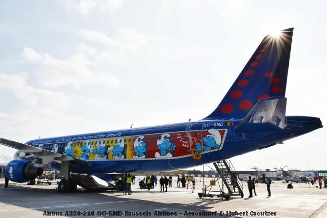 DSC_2077 Airbus A320-214 OO-SND Brussels Airlines - Aerosmurf © Hubert Creutzer
