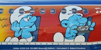 DSC_2078 Airbus A320-214 OO-SND Brussels Airlines - Aerosmurf © Hubert Creutzer