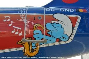 DSC_2080 Airbus A320-214 OO-SND Brussels Airlines - Aerosmurf © Hubert Creutzer
