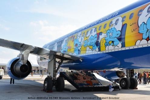 DSC_2082 Airbus A320-214 OO-SND Brussels Airlines - Aerosmurf © Hubert Creutzer