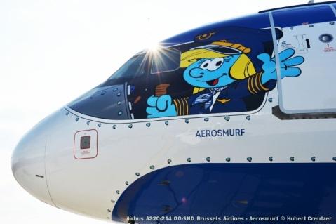 DSC_2094 Airbus A320-214 OO-SND Brussels Airlines - Aerosmurf © Hubert Creutzer