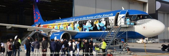DSC_2101 Airbus A320-214 OO-SND Brussels Airlines - Aerosmurf © Hubert Creutzer