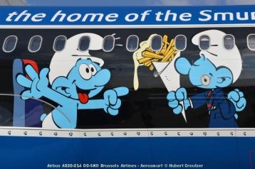 DSC_2102 Airbus A320-214 OO-SND Brussels Airlines - Aerosmurf © Hubert Creutzer