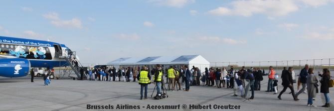 DSC_2140 Brussels Airlines - Aerosmurf © Hubert Creutzer