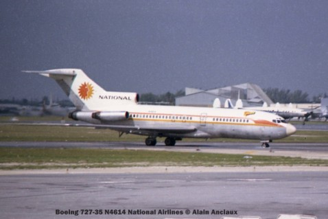 img079 Boeing 727-35 N4614 National Airlines © Alain Anciaux