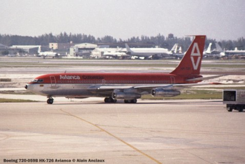 img097 Boeing 720-059B HK-726 Avianca © Alain Anciaux