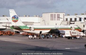 img102 Boeing 720-022 VP-HCO Belize Airways © Alain Anciaux
