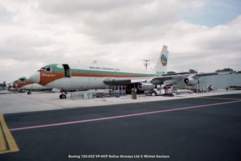 img108 Boeing 720-022 VP-HCP Belize Airways Ltd © Michel Anciaux