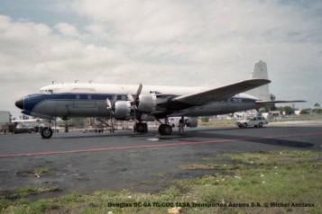 img156 Douglas DC-6A TG-COC TASA Transportes Aereos S.A. © Michel Anciaux