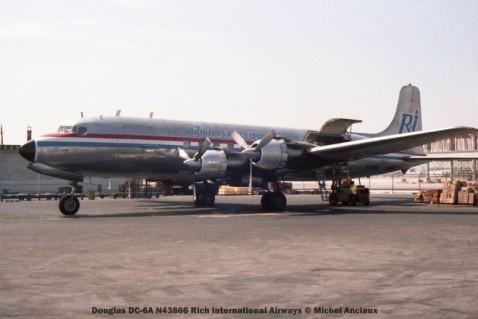 img160 Douglas DC-6A N43866 Rich International Airways © Michel Anciaux