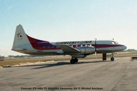 img196 Convair CV-440-75 N800SA Sweeney Air © Michel Anciaux