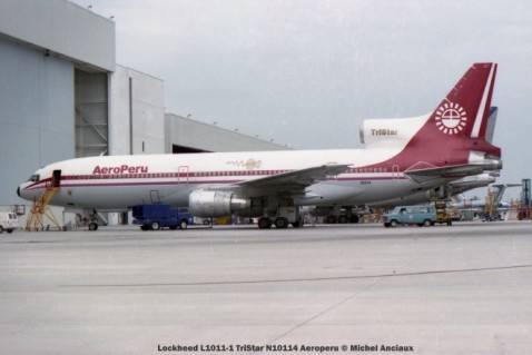 img249 Lockheed L1011-1 TriStar N10114 Aeroperu © Michel Anciaux
