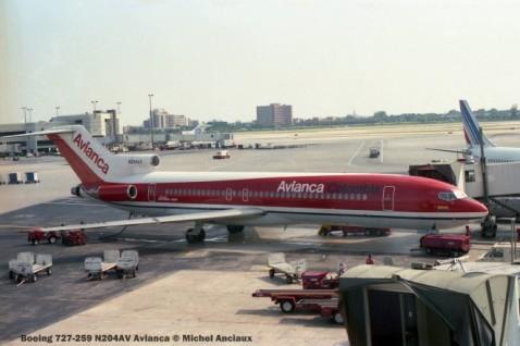 img310 Boeing 727-259 N204AV Avianca © Michel Anciaux