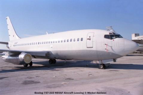 img356 Boeing 737-222 N64AF Aircraft Leasing © Michel Anciaux