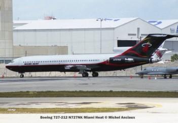 img487 Boeing 727-212 N727NK Miami Heat © Michel Anciaux