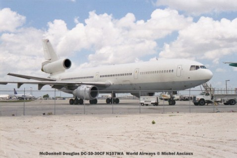 img489 McDonnell Douglas DC-10-30CF N107WA World Airways © Michel Anciaux