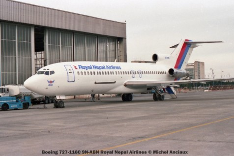 img586 Boeing 727-116C 9N-ABN Royal Nepal Airlines © Michel Anciaux