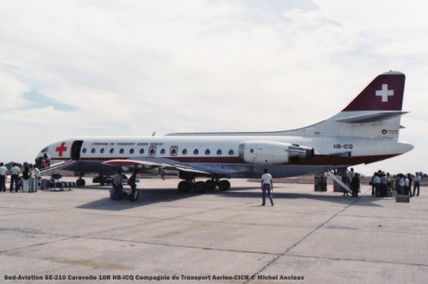img707 Sud-Aviation SE-210 Caravelle 10R HB-ICQ Compagnie de Transport Aerien-CICR © Michel Anciaux