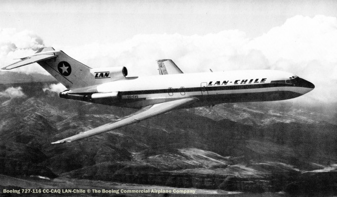 img713 Boeing 727-116 CC-CAQ LAN-Chile © The Boeing Commercial Airplane Company