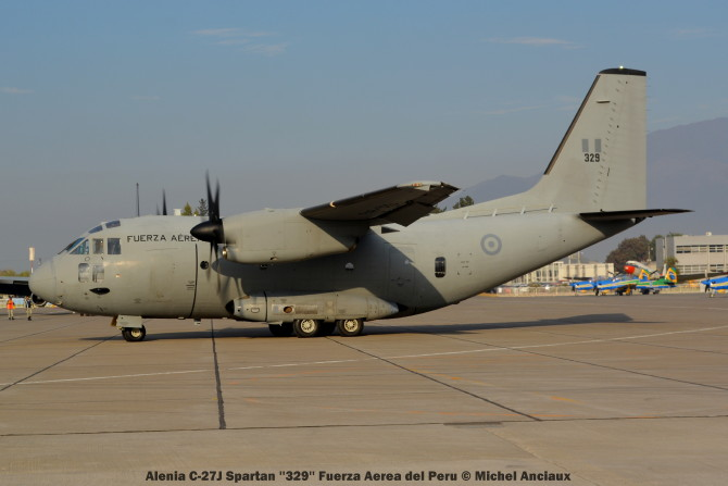 009 Alenia C-27J Spartan ''329'' Fuerza Aerea del Peru © Michel Anciaux